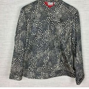 Chico's Animal Print/Red Owl Lining Jacket